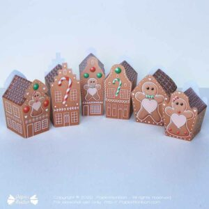 Boîtes maisons en pain d'épices - Gingerbread house box